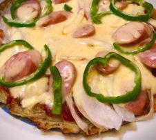 とろけるミックスチーズのじゃがいもピザ